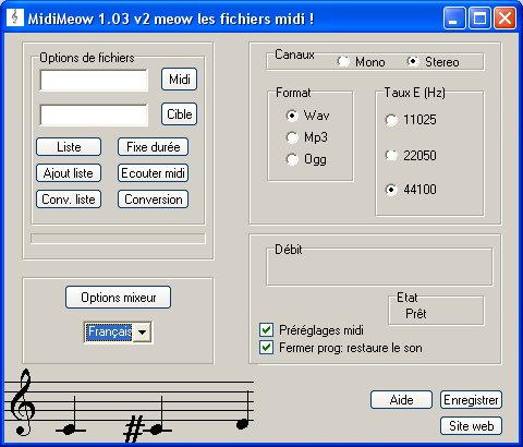 midi to mp3 sceenshot